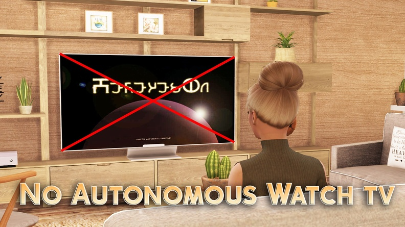 The Sims 4: No Autonomous Watch TV