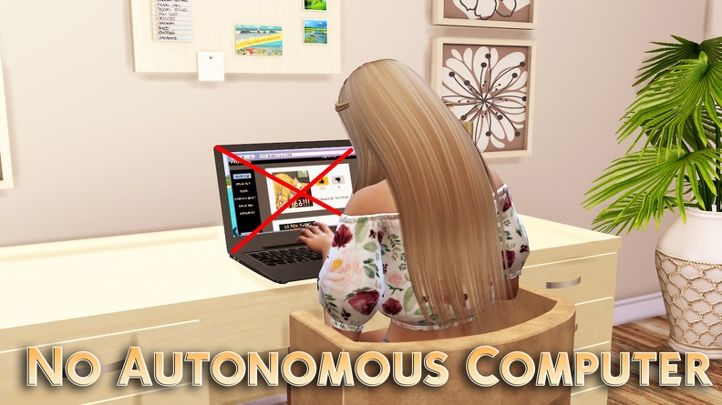 The Sims 4: No Autonomous Computer