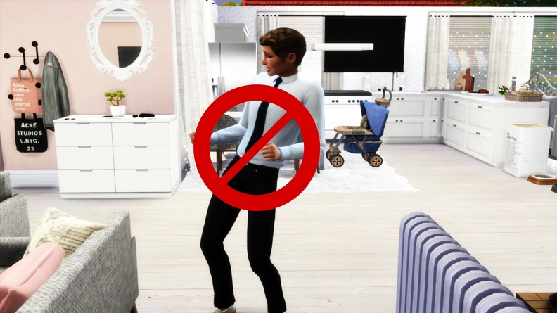 The Sims 4: No Autonomous Dancing
