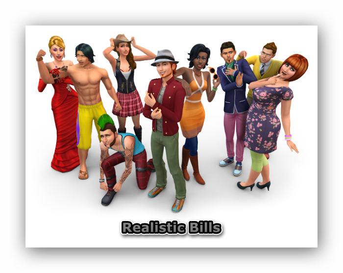 The Sims 4. Реалистичные счета