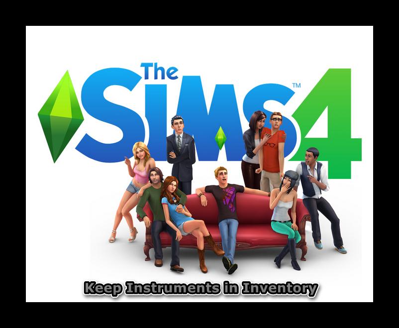 The Sims 4. Музыкальные инструменты всегда в инвинтаре